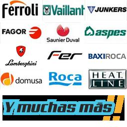 Servicio tecnico de calderas Ferroli, Vaillant, Junkers, Fagor, Saunier duval, aspes, Lamborghini, Fer, BaxiRoca, Domusa, Roca, Heat Line y muchas más marcas de calderas.