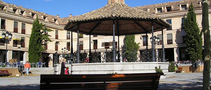 Plaza Mayor donde se celebran parte de las Fiestas en Las Rozas