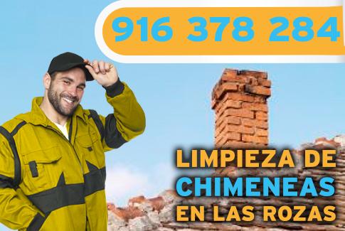 Limpieza de chimeneas en Las Rozas de Madrid.