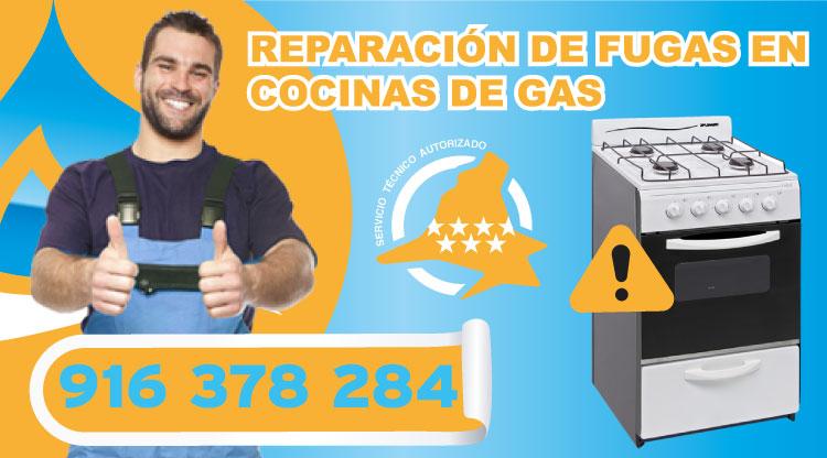 Reparación de fugas en cocinas de gas en Las Rozas de Madrid