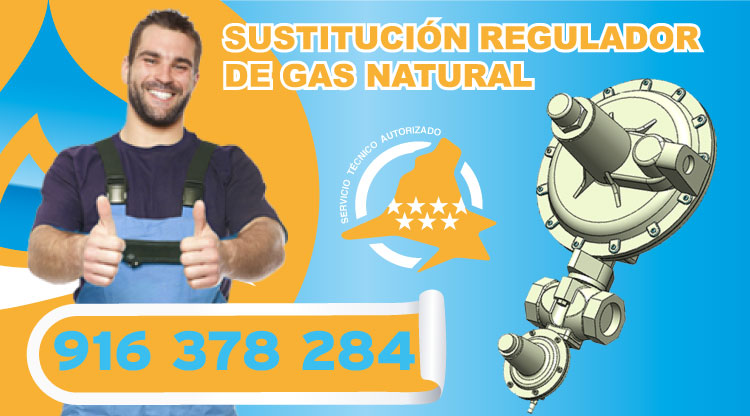 Sustitución regulador de gas natural en Las Rozas de Madrid